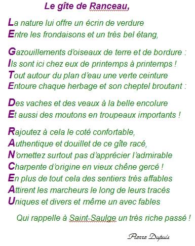 Top Souvenir de vacances à Saint-Saulge dans la nièvre : « Le gîte de  BU71
