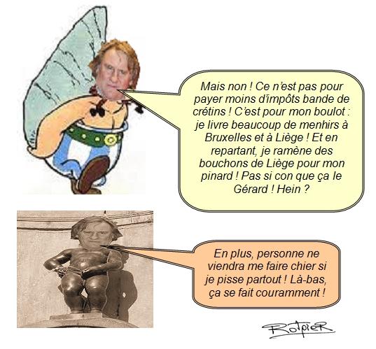 L'actualité vue par le Rotpier Depardieu en Belgique