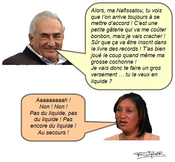 L'actualité vue par le Rotpier DSK et Nafissatou Dialo