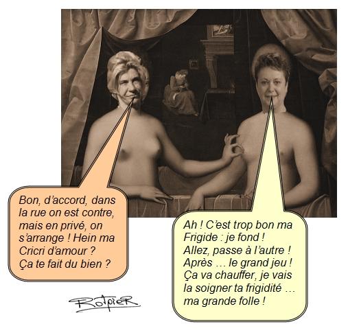 L'actualilité vue par le Rotpier Frigide Barjeot et Christine Boutin