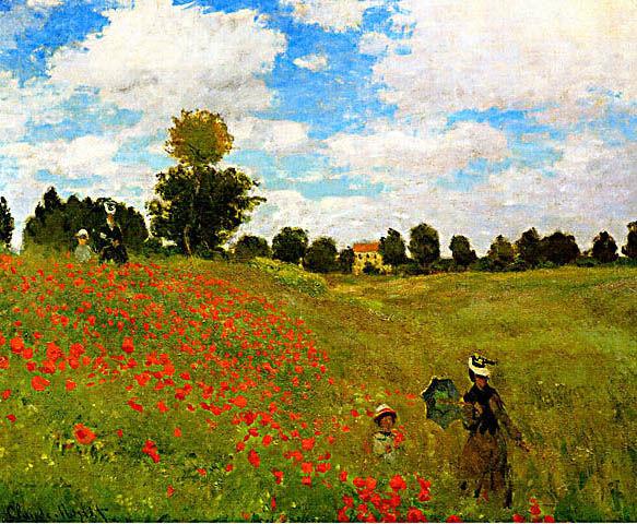 Les coquelicots de Claude Monet