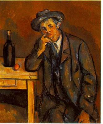 Le buveur de Paul Cézanne