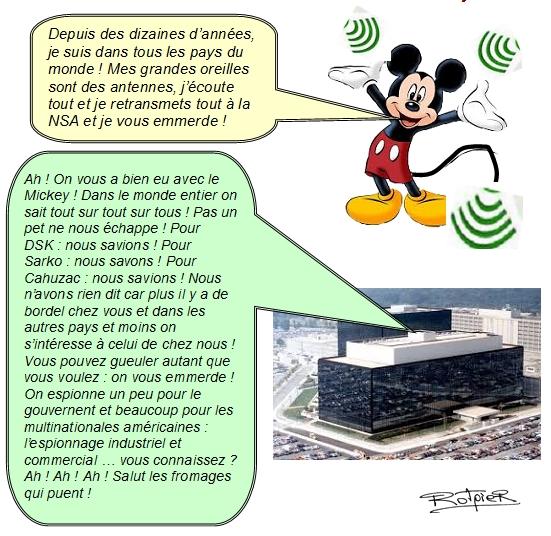 l'actualité vue par le Rotpier les grandes oreilles de Mickey