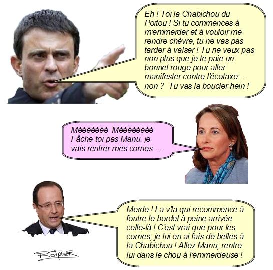 L'actualité vue par le Rotpier Valls et Royal
