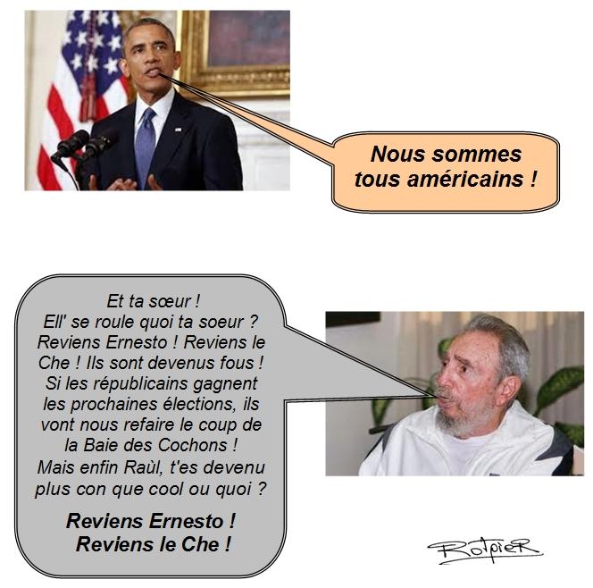 l'actualité vue par le Rotpier Obama et Fidel Castro
