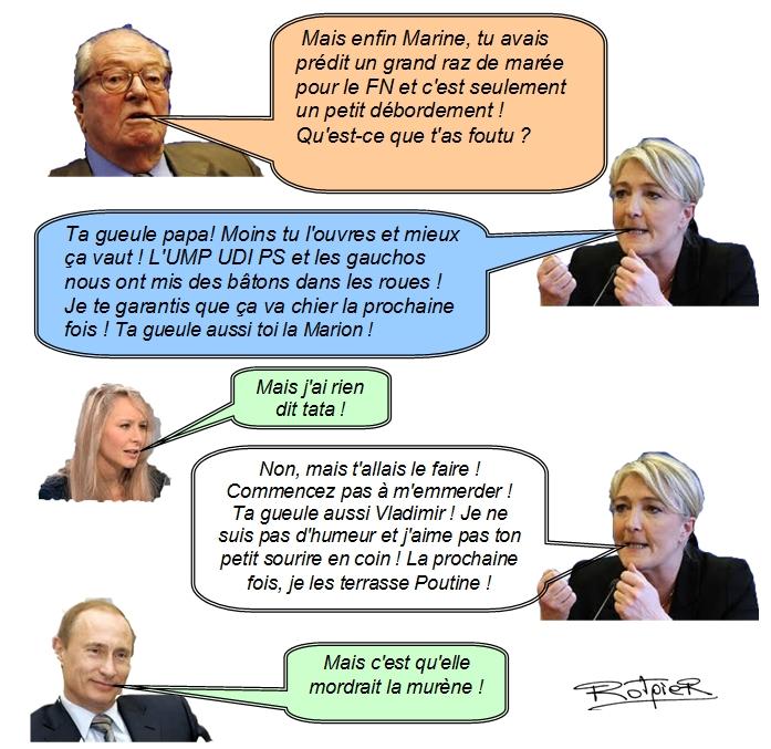L'actualilité vue par le Rotpier les le Pen après les départementales