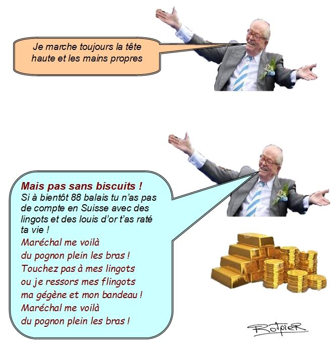l'actualité vue par le Rotpier le Pen et ses grands principes