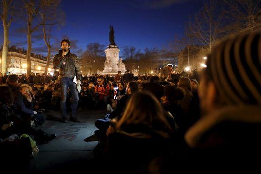 Nuit debout Place-de-la-Republique-a-Paris-le-11-avril Benoît Tessier Reuters