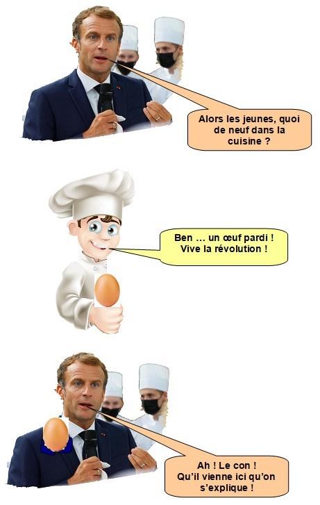 Macron et l'oeuf