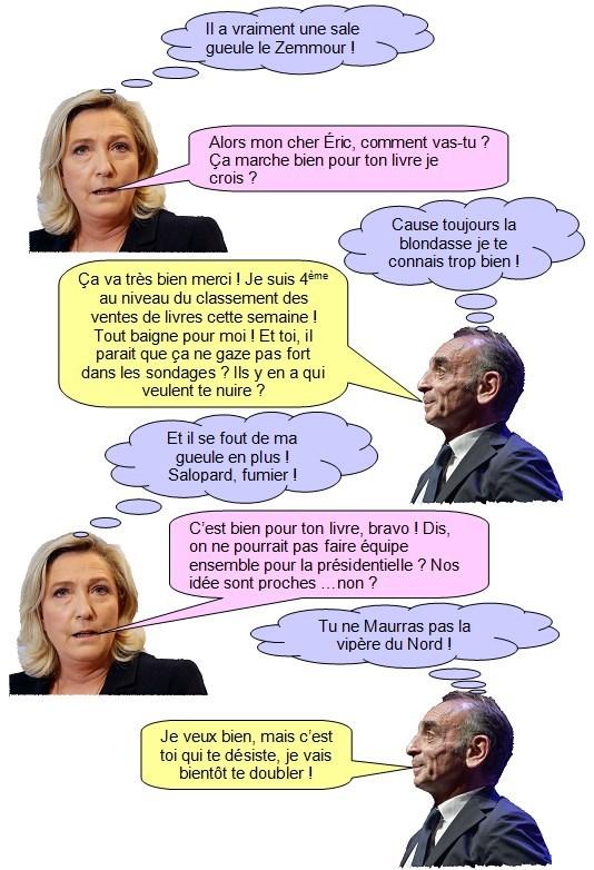 Marine le Pen Zemmour (1)